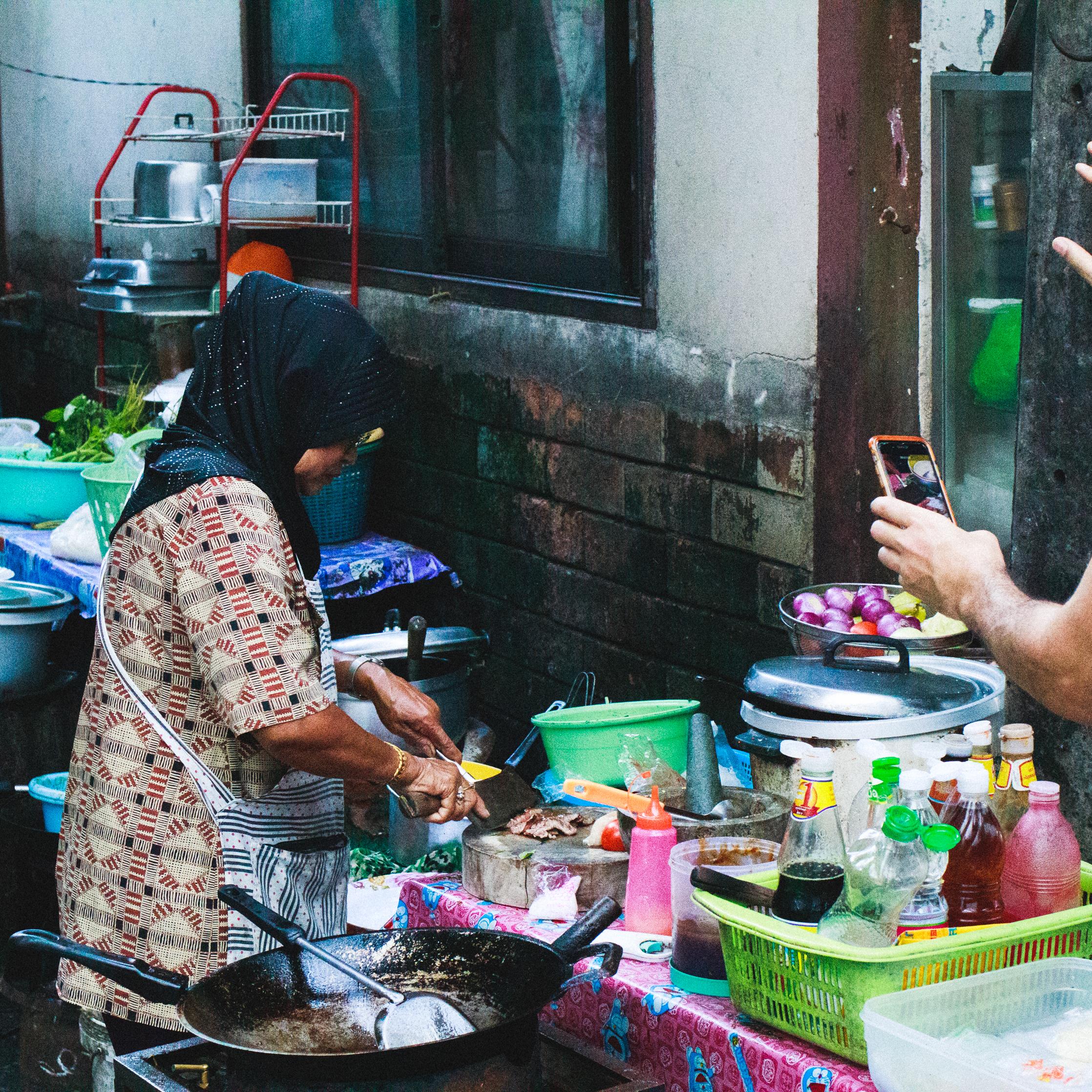 Local street food shop in Muslim quarter of Charoen Krung