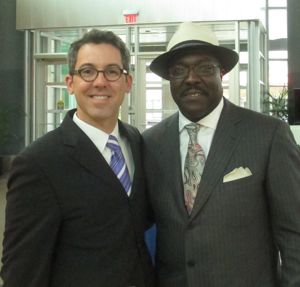 With museum president Bob Kendrick.
