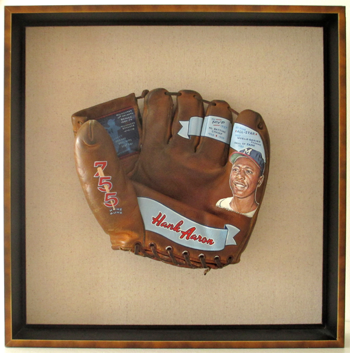 Sean-Kane-Aaron-Baseball-Glove-Art-framed