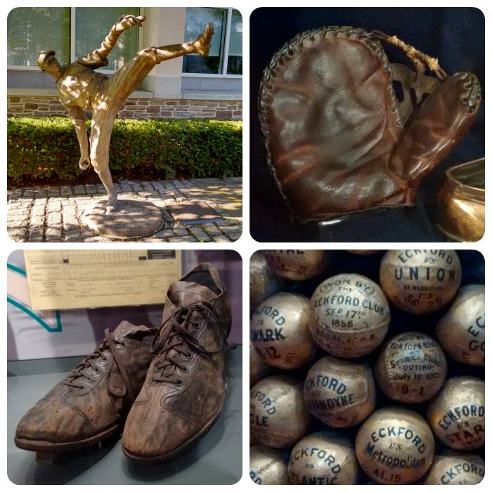 Satchell statue, Gehrig's glove, Ty Cobb's shoes, and looks like they've been painting baseball equipment since the 1850s!