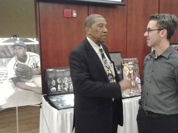 Pedro Sierra took a few minutes to tell me stories about his coach with the Washington Senators, Ted Williams.