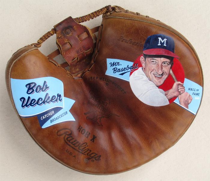 Sean-Kane-Bob-Uecker-Major-League-Painted-Baseball-Glove-Art-1