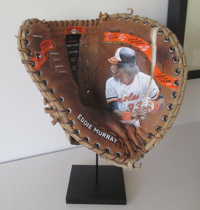 Baseball Glove Art on Museum Display