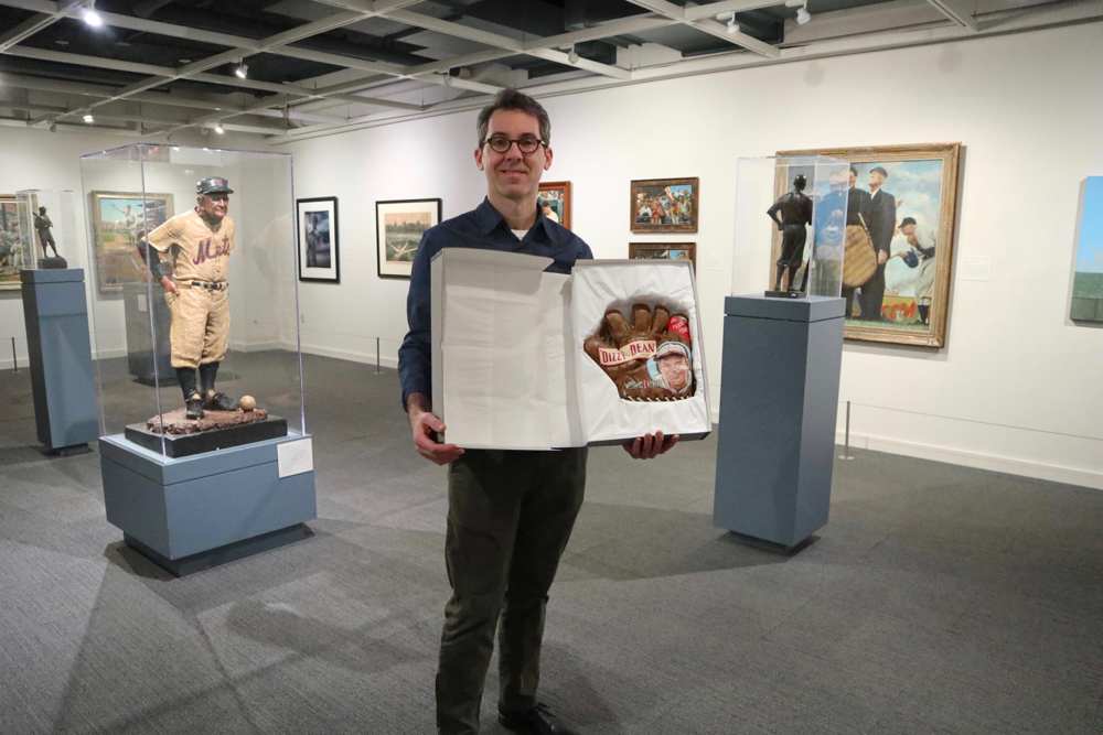 "Sean in Hall's ""Art of Baseball"" gallery"