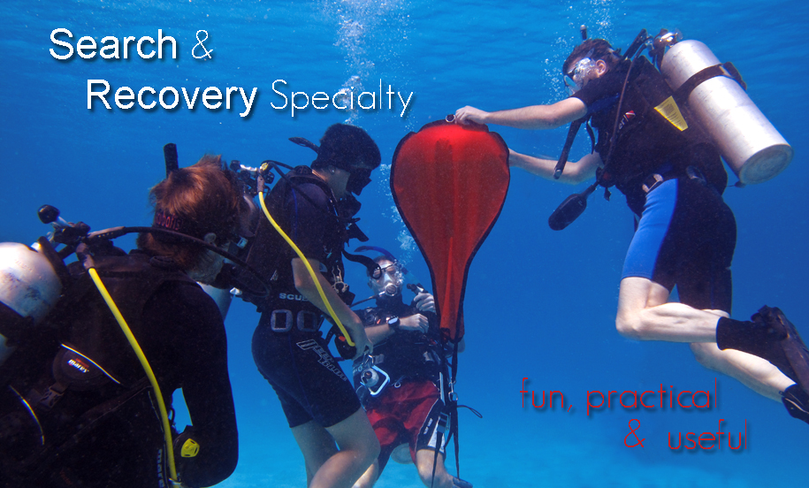 It happens: People accidentally drop things from docks, off boats or even while scuba diving. If you've ever lost something in the water and wanted to go find it, then the PADI Search and Recovery Diver Specialty course is for you. There are effective ways to search for objects underwater that increase your chances of success. And there are good and better methods to bring up small, large or just awkward items. Search and recovery can be challenging, but a whole lot of fun.