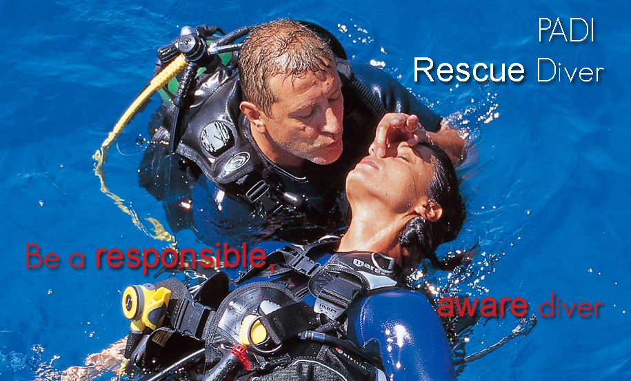 Scuba divers describe the PADI Rescue Diver course as the most challenging, yet most rewarding course they've ever taken. Why? Because you learn to prevent and manage problems in the water, and become more confident in your skills as a diver, knowing that you can help others if needed. During the course, you learn to become a better buddy by practicing problem solving skills until they become second nature. Plus, the course is just fun – it's serious, but still allows for lots of laughter in between the focused learning.