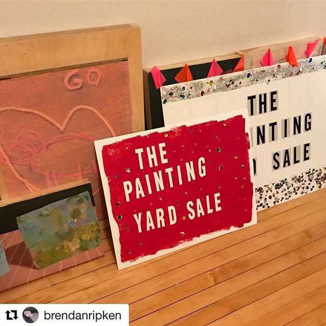 I may have left Portland but you can still get some of my work tomorrow at the Painting Yard Sale!  #Repost @brendanripken with @get_repost ・・・ Tomorrow grab your morning coffee at Tandem on Anderson st. and stop by The Painting Yard Sale @tandemcoffeeroasters