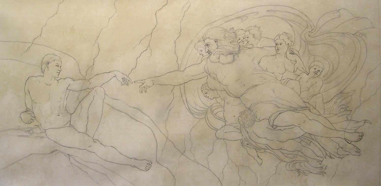 Creation of Man, Sketch