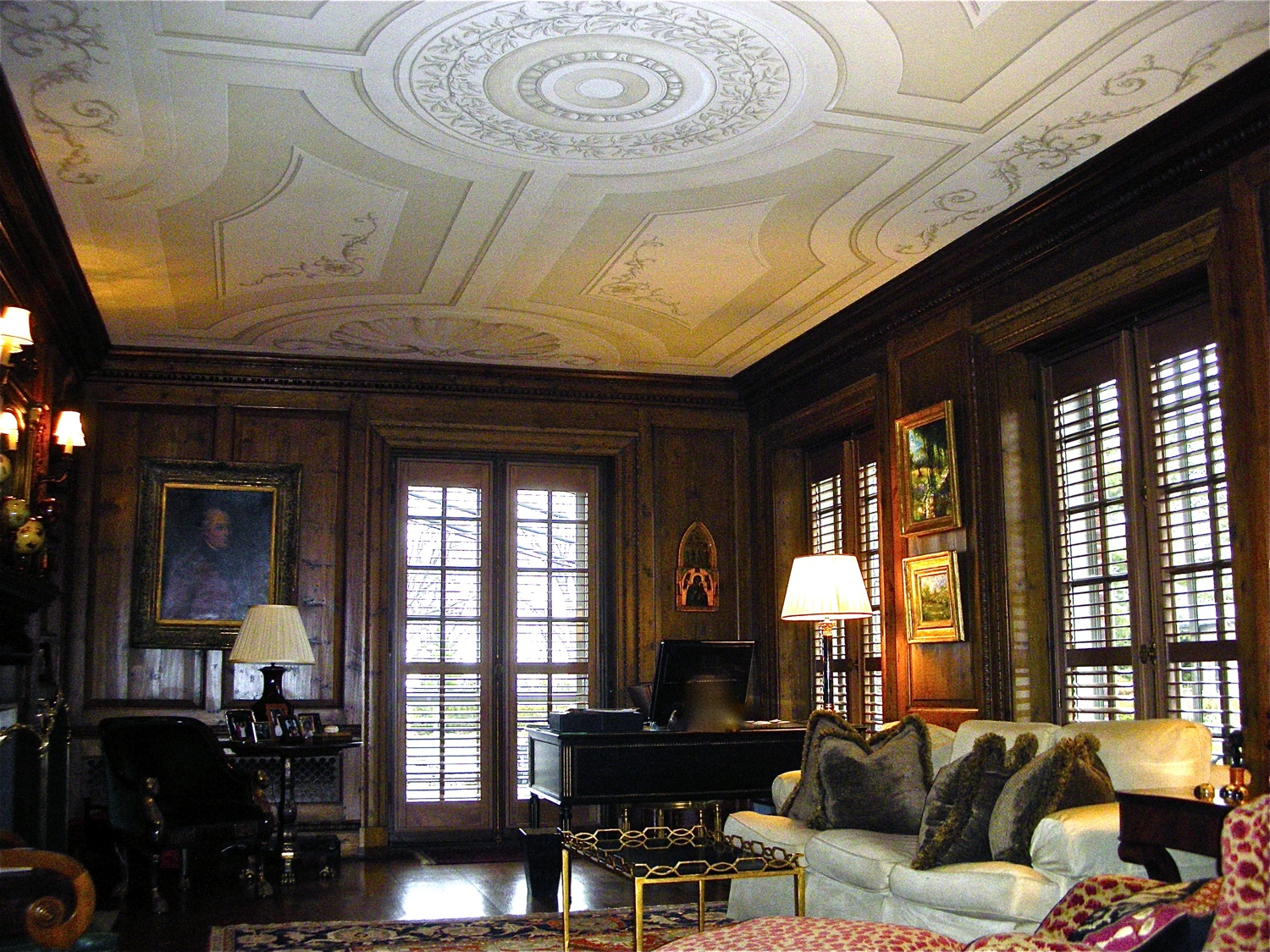 Coffered Ceiling, Trompe L'oiel