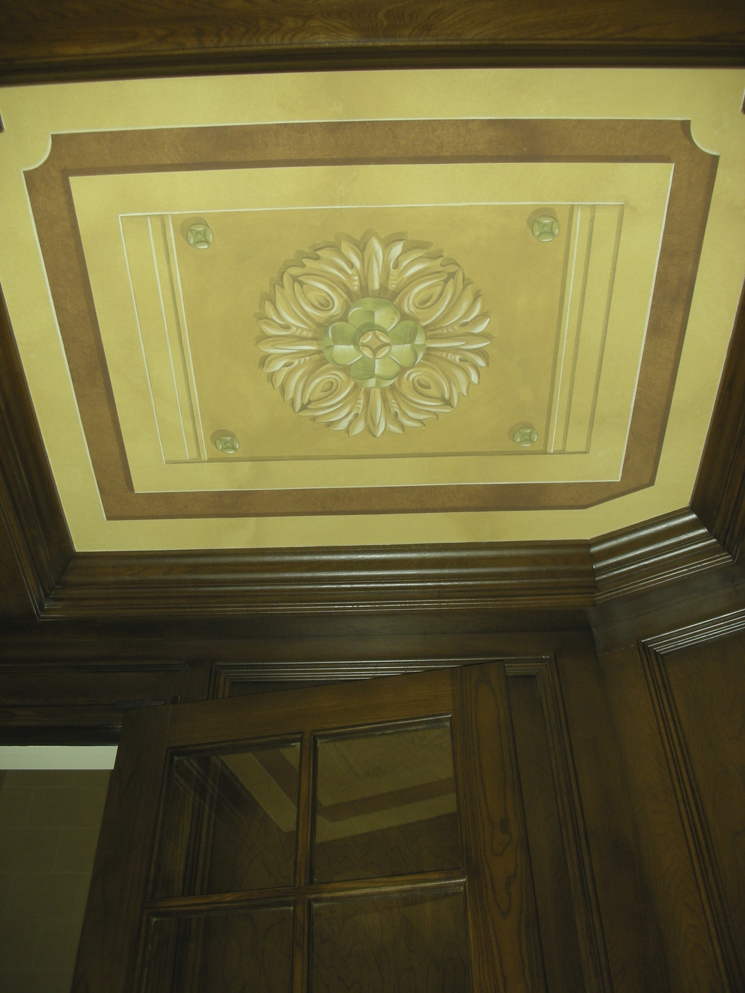 Coffered Ceiling, Polychrome