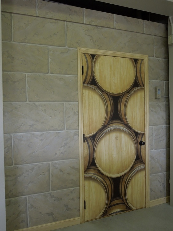 Wine Casks with Faux Block