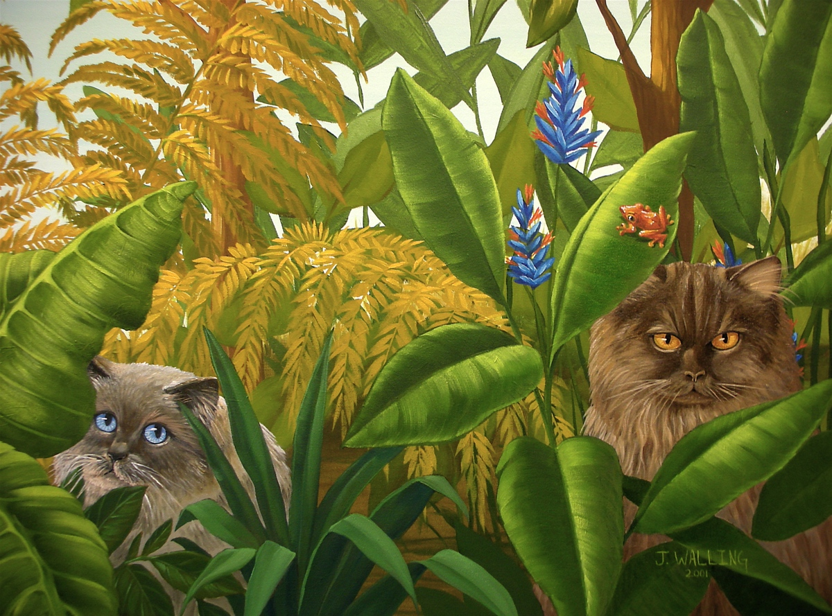 Cats in the Jungle, detail