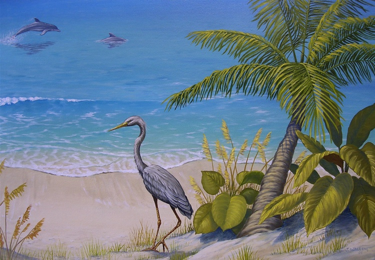 Florida Beach Scene, detail