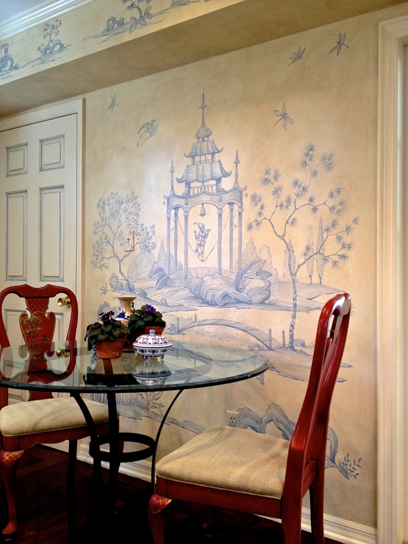 Blue and white chinoiserie