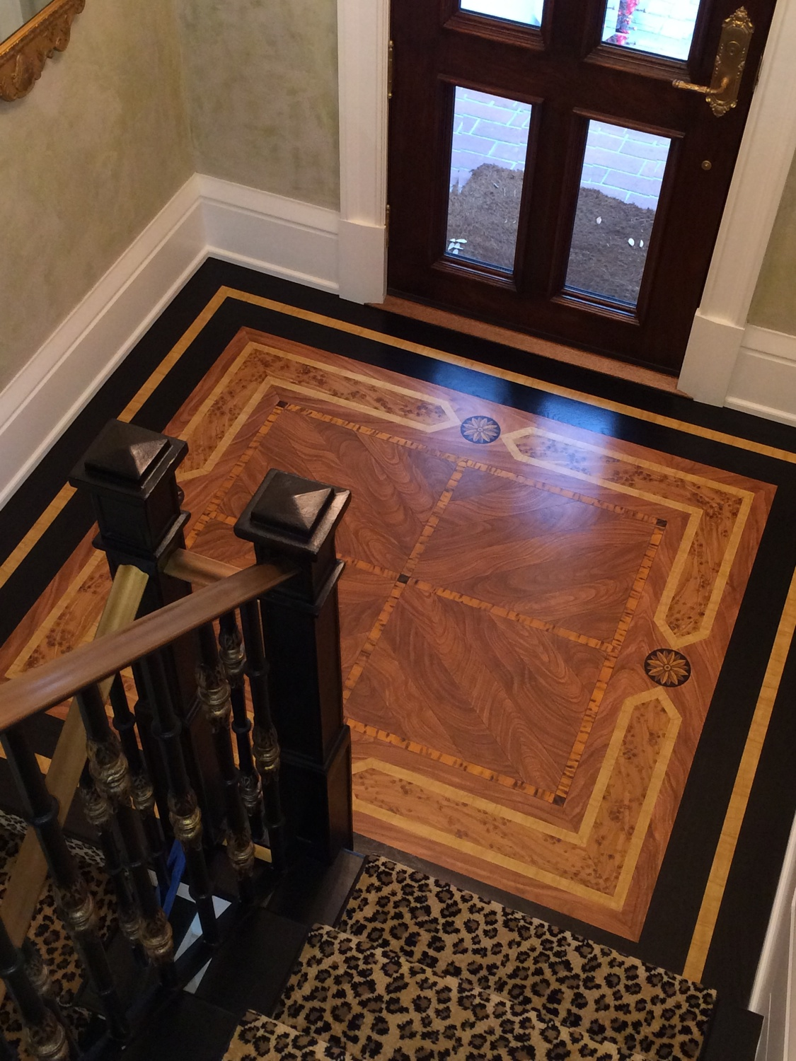 Faux Wood Marquetry Floor