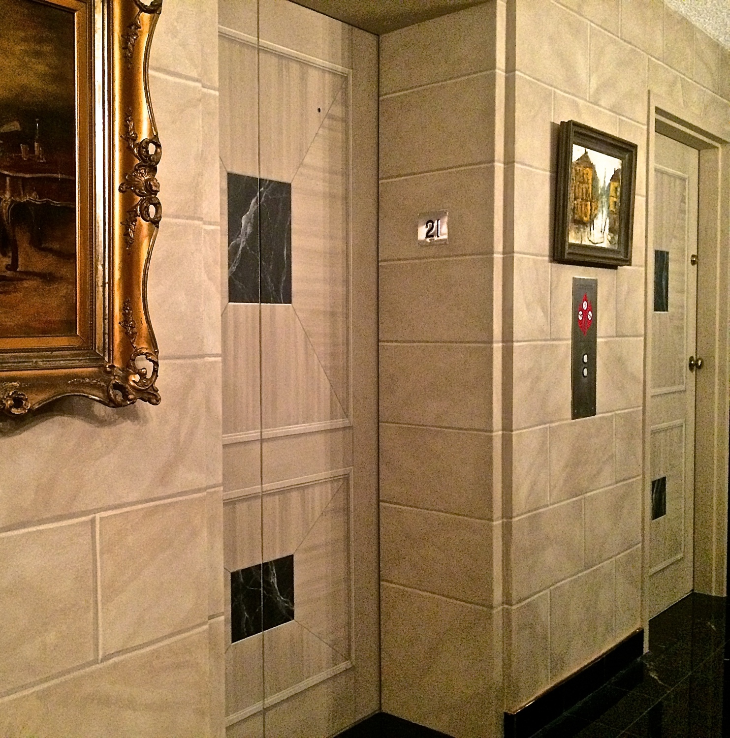 Faux Blocks & Trompe L'Oeil Raised Doors