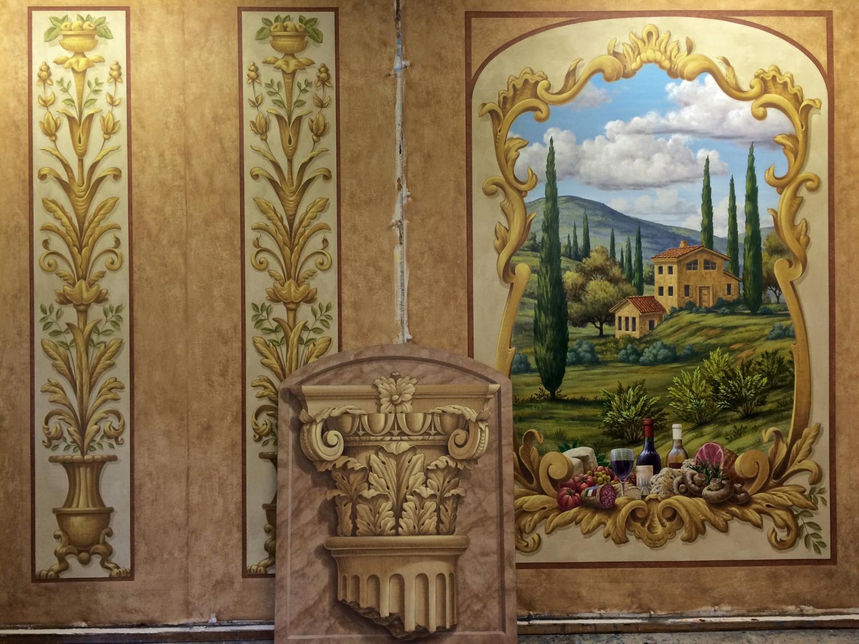 Painted Tapestry & Corinthian Capital