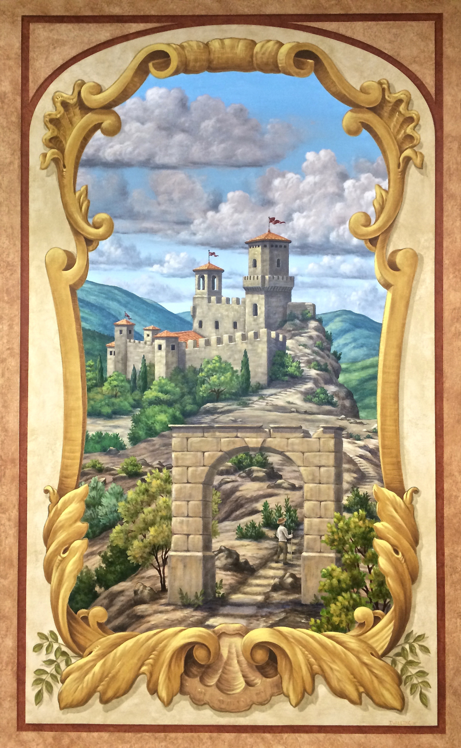Painted Tuscan Tapestry