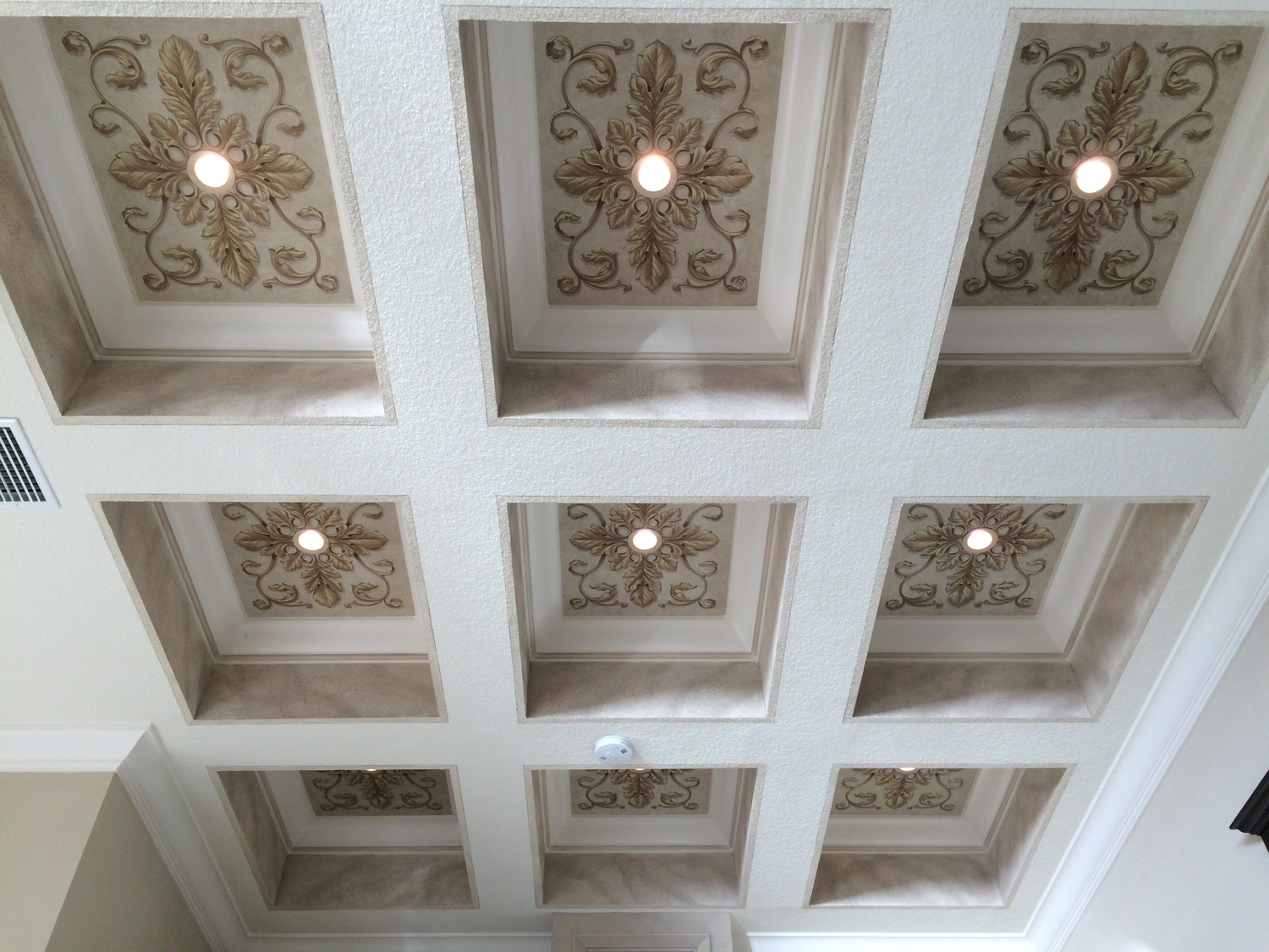 Ornamented Coffered Ceiling