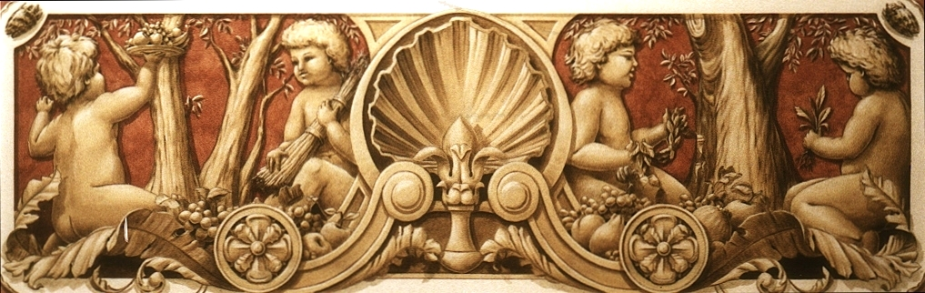 Cherubs and Shell Ornament