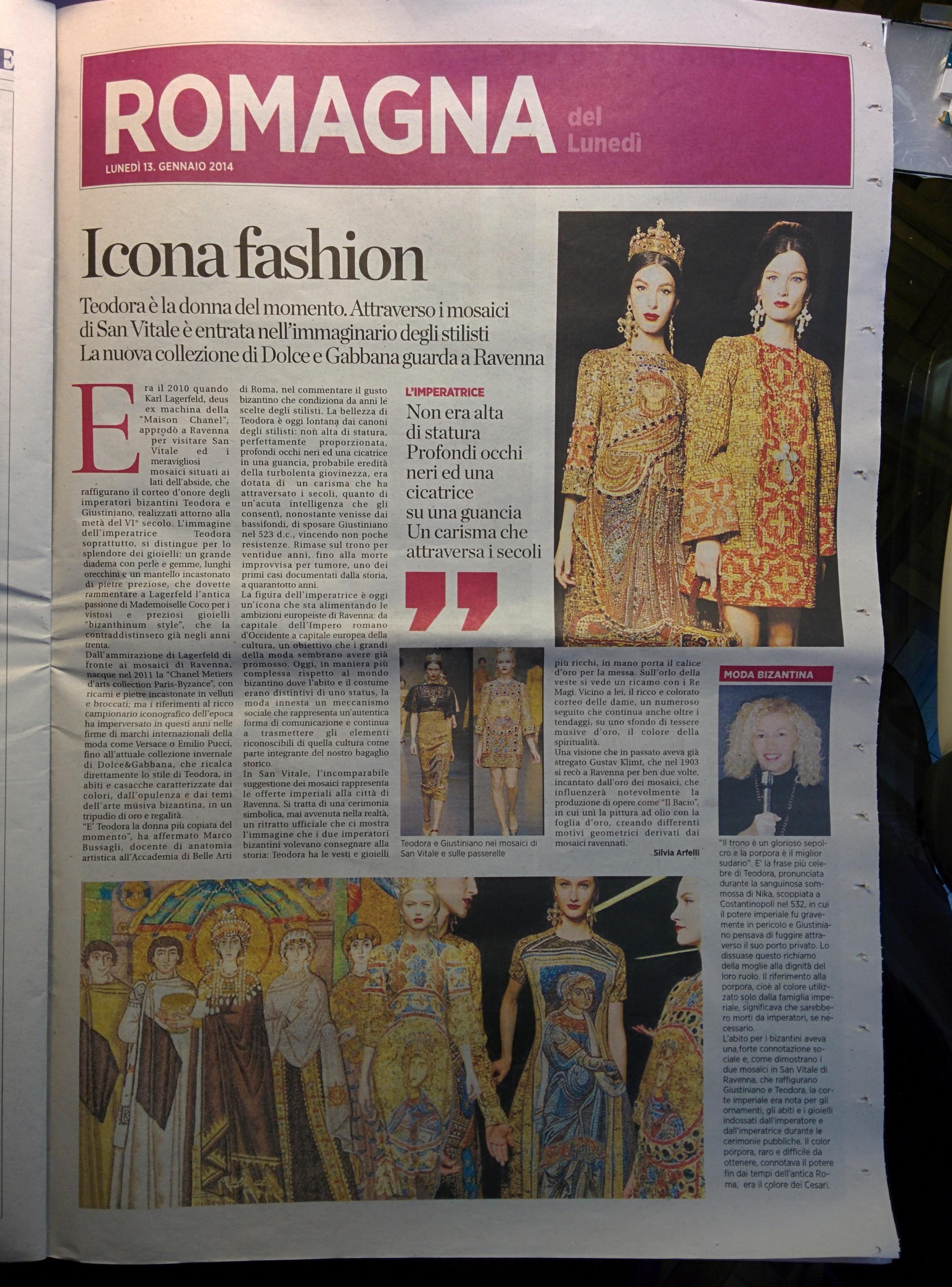 """Image from """"La Voce di Romagna"""" NewsPaper"""