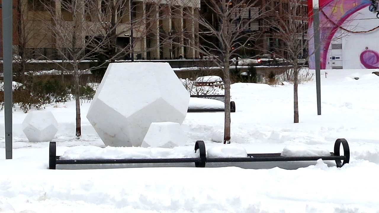 Snowdecahedrons | Dewey Square | 2015