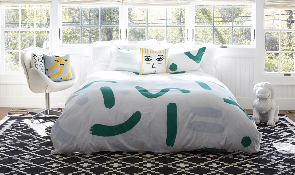 Aelfie Francine Bedding and various pillows