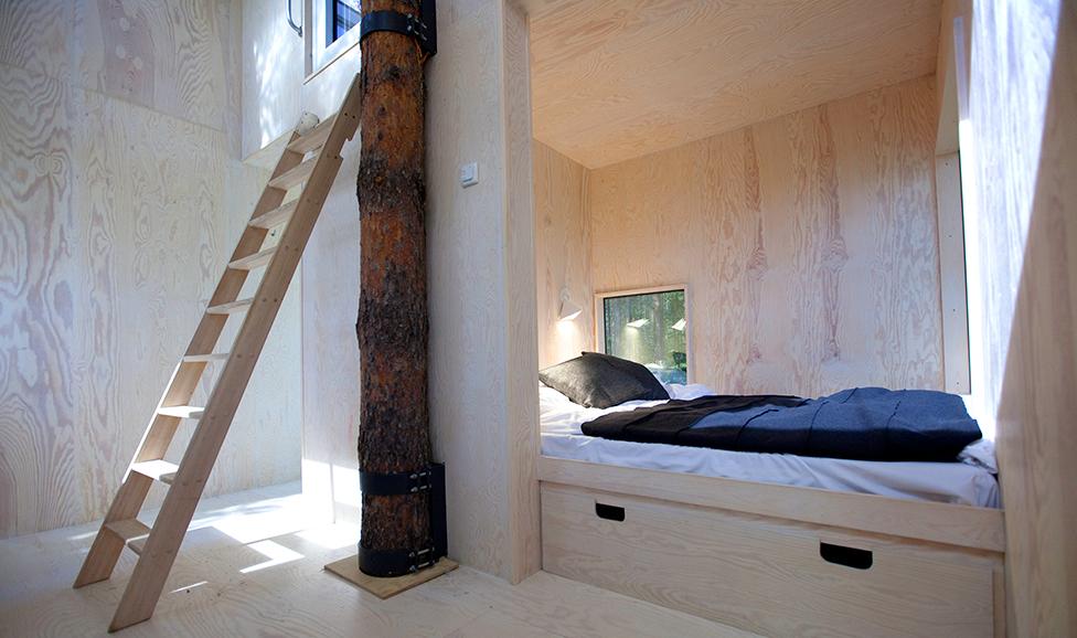 Treehotel, Mirror Cube interior, Sweden