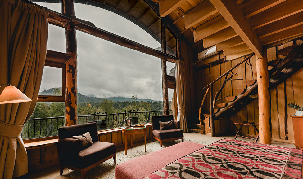Nothofagus Hotel interior, Chile
