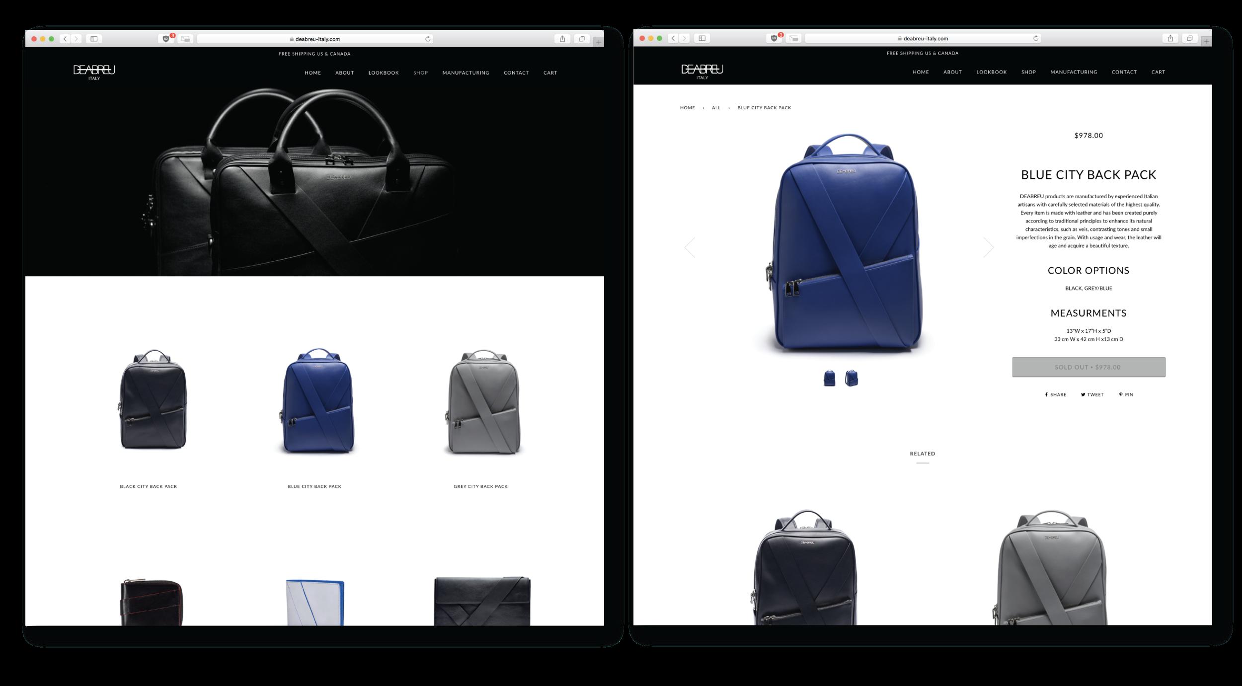 DeAbreu Website | Shop