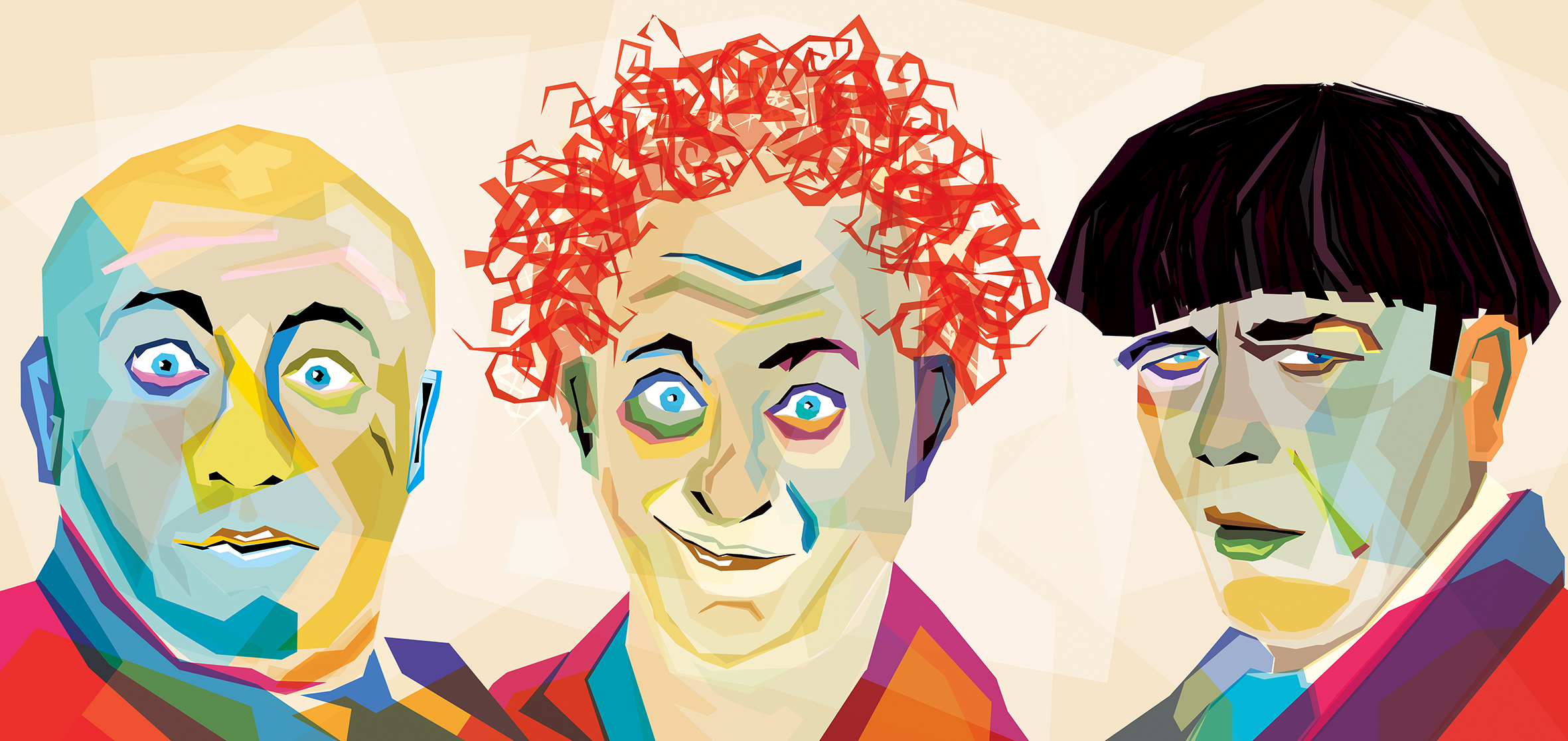 The Three Stooges by Gilberto Mevi