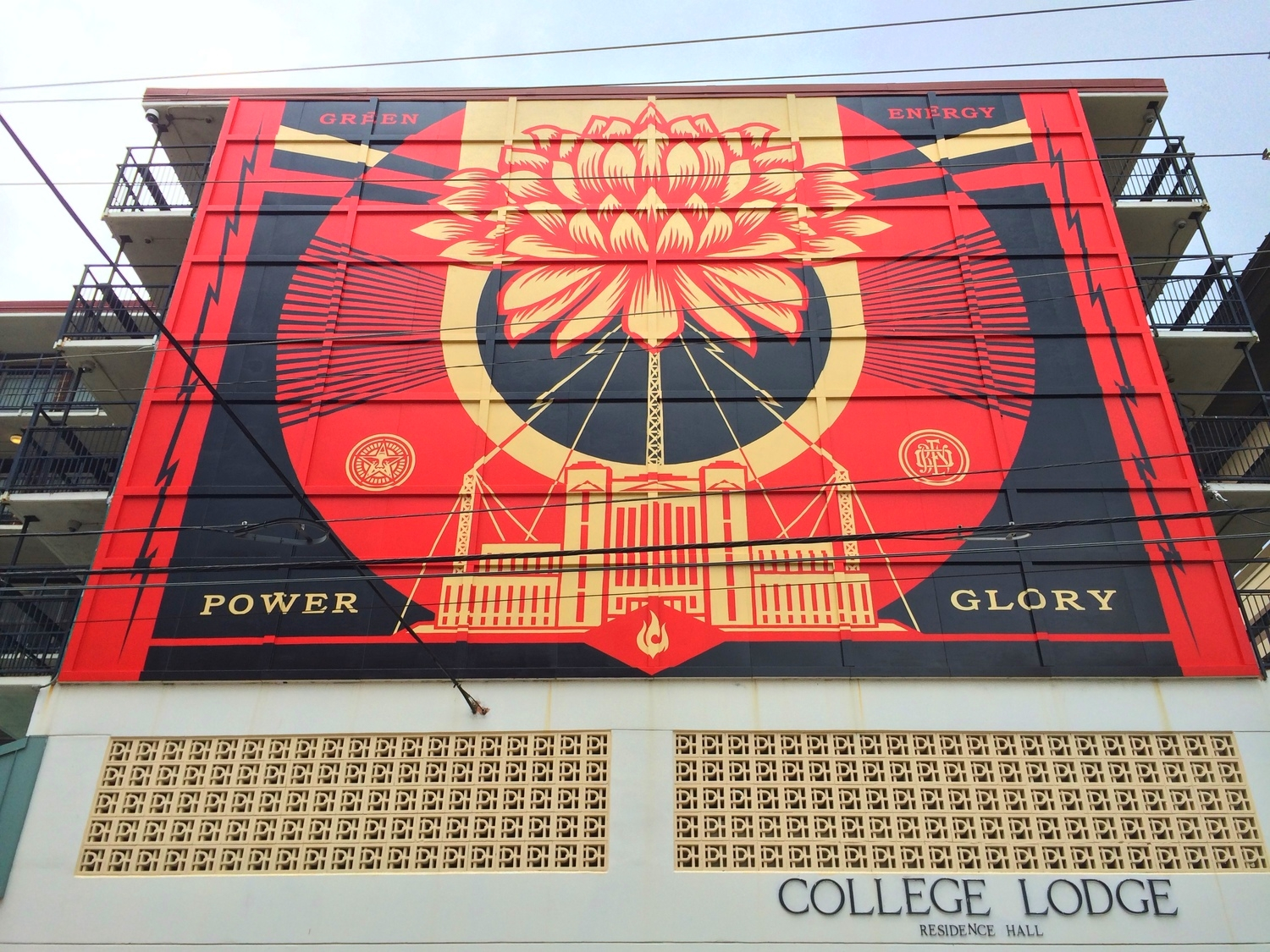 Green Power mural at the College Lodge