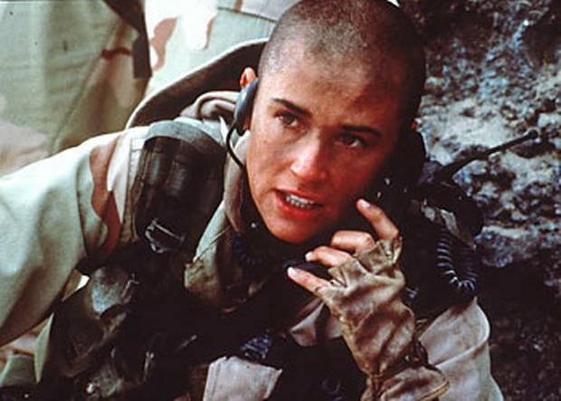 Demi Moore in GI Jane: Who I was pretending to be while all the other girls were busy scrapbooking their future weddings.