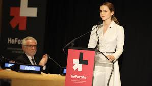 Emma Watson killing it on stage as she launches #heforshe at the UN headquarters in New York.