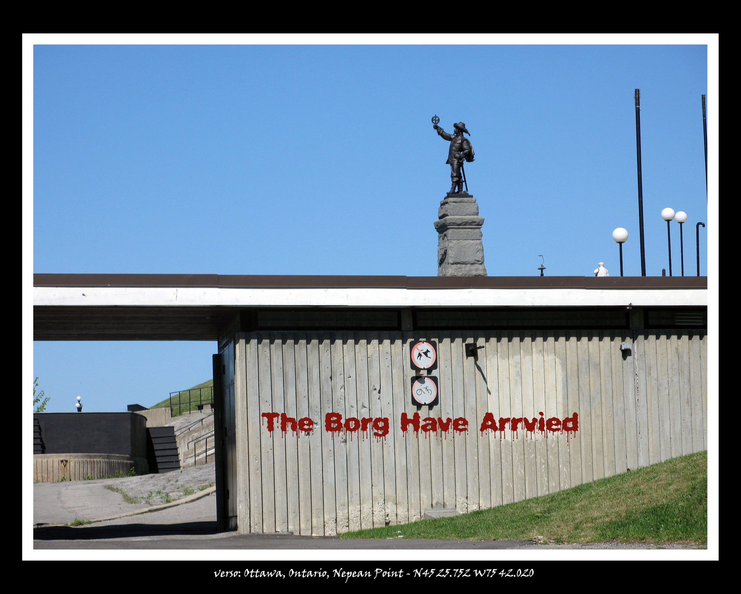 Graffito_Monument_Nepean Point, The Borg have Arrived, drive-by view from parking lot.jpg
