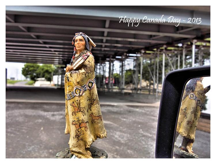 Indians, Buffalo Robe, Ottawa, Ontario, Canada Day-2013, Carling and Kirkwood