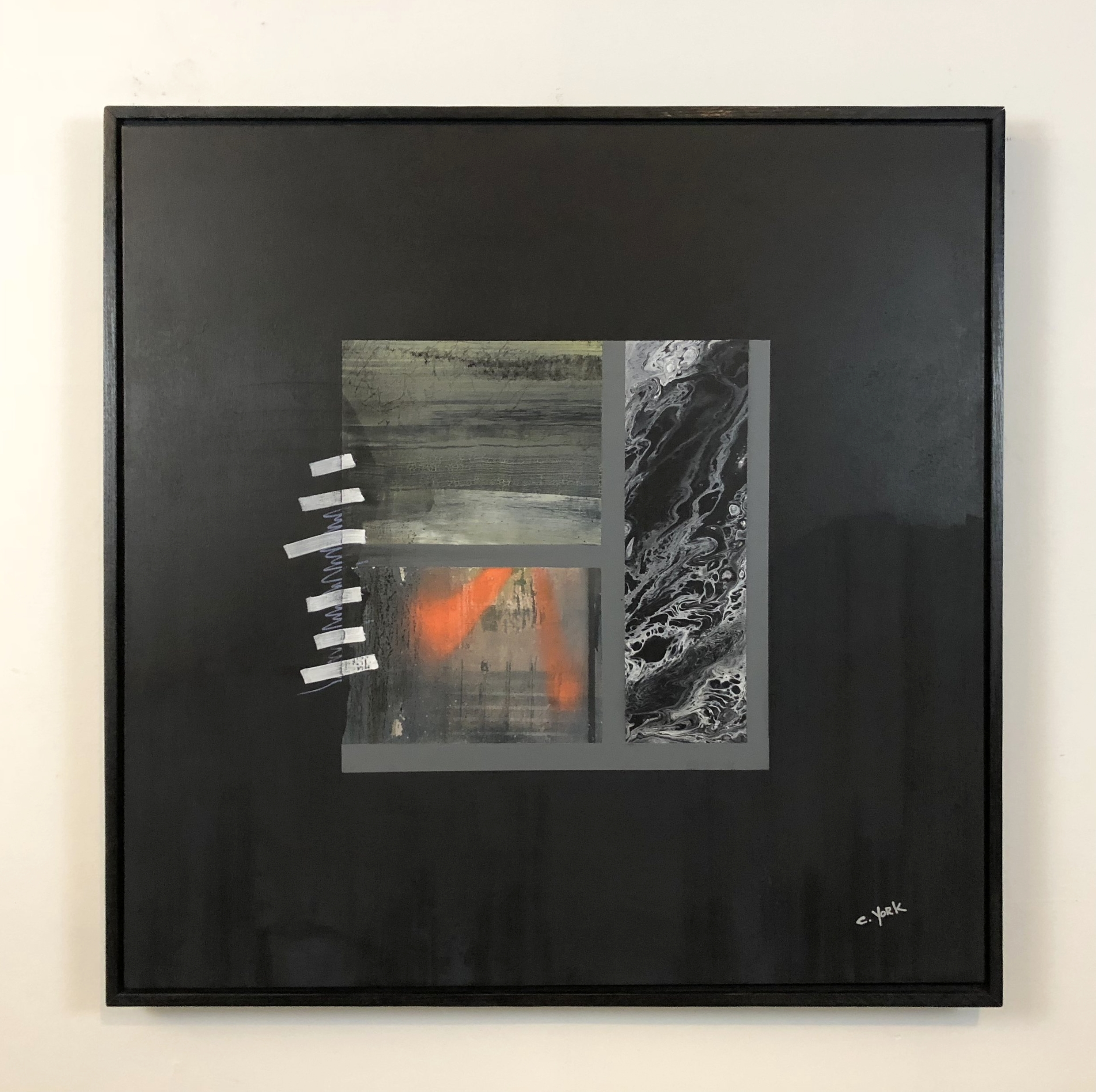 """36"""" x 36"""" x 1.5"""" charcoal, acrylic paint and spray on canvas  •  2017 