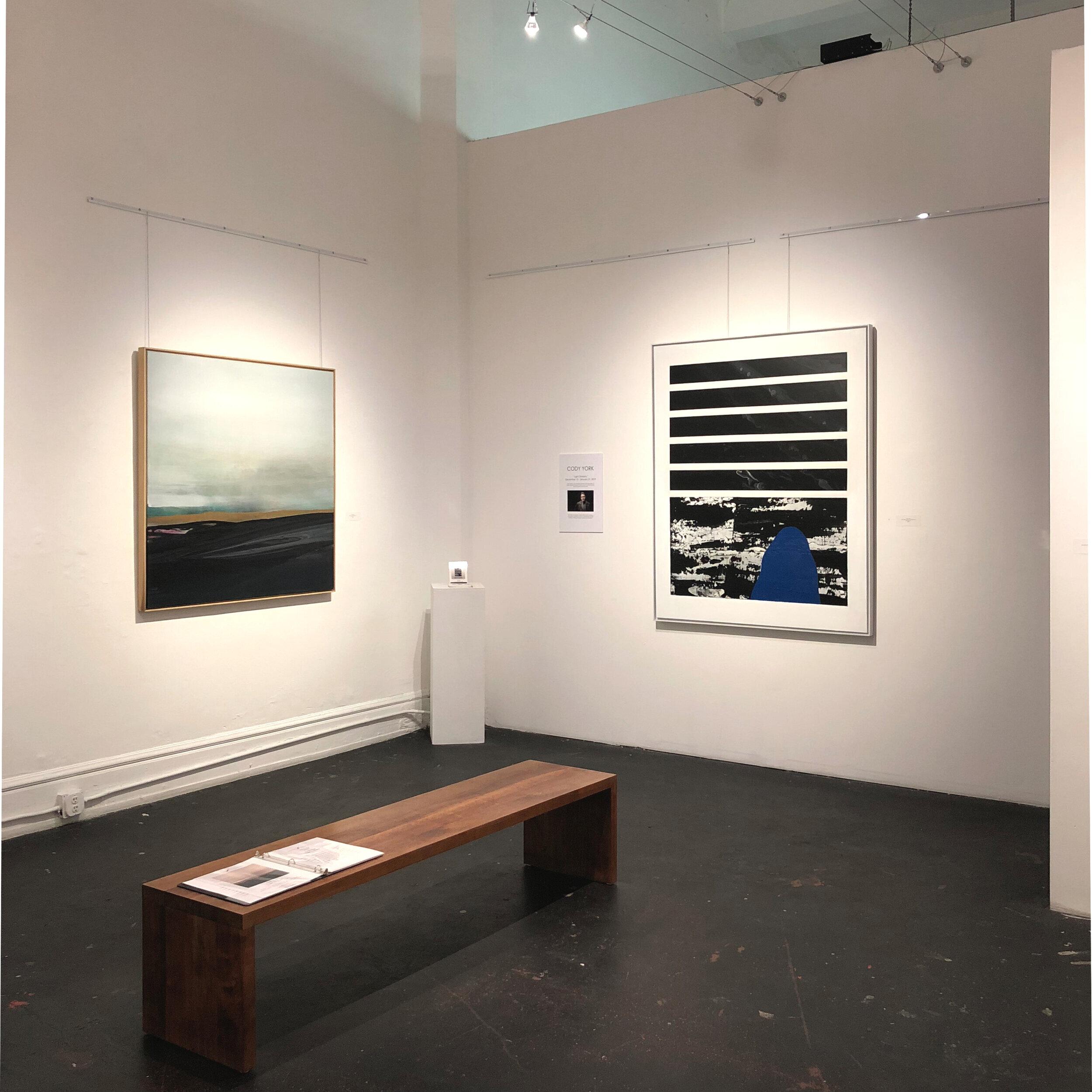 """ Light Divisions "" Exhibition •  GDCA Gallery  |  Los Angeles, CA  "" Fluidity Fields "" | "" Feelin' Blue """