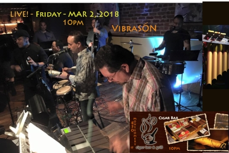 VibraSON returns to the Cigar Bar in San Francisco, on 2 March