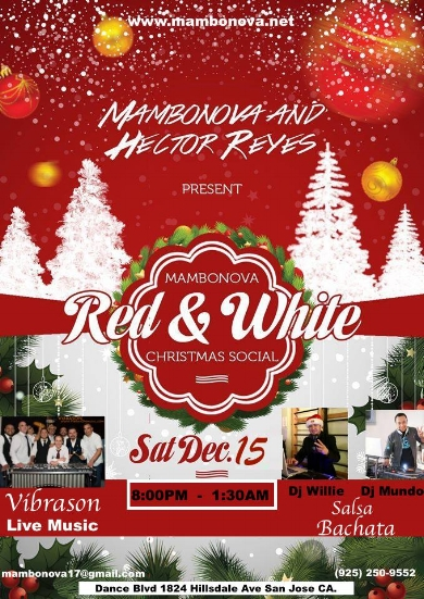 VibraSON LIVE at the Mambo Nova Holiday Social in San Jose, CA - Dec 15!