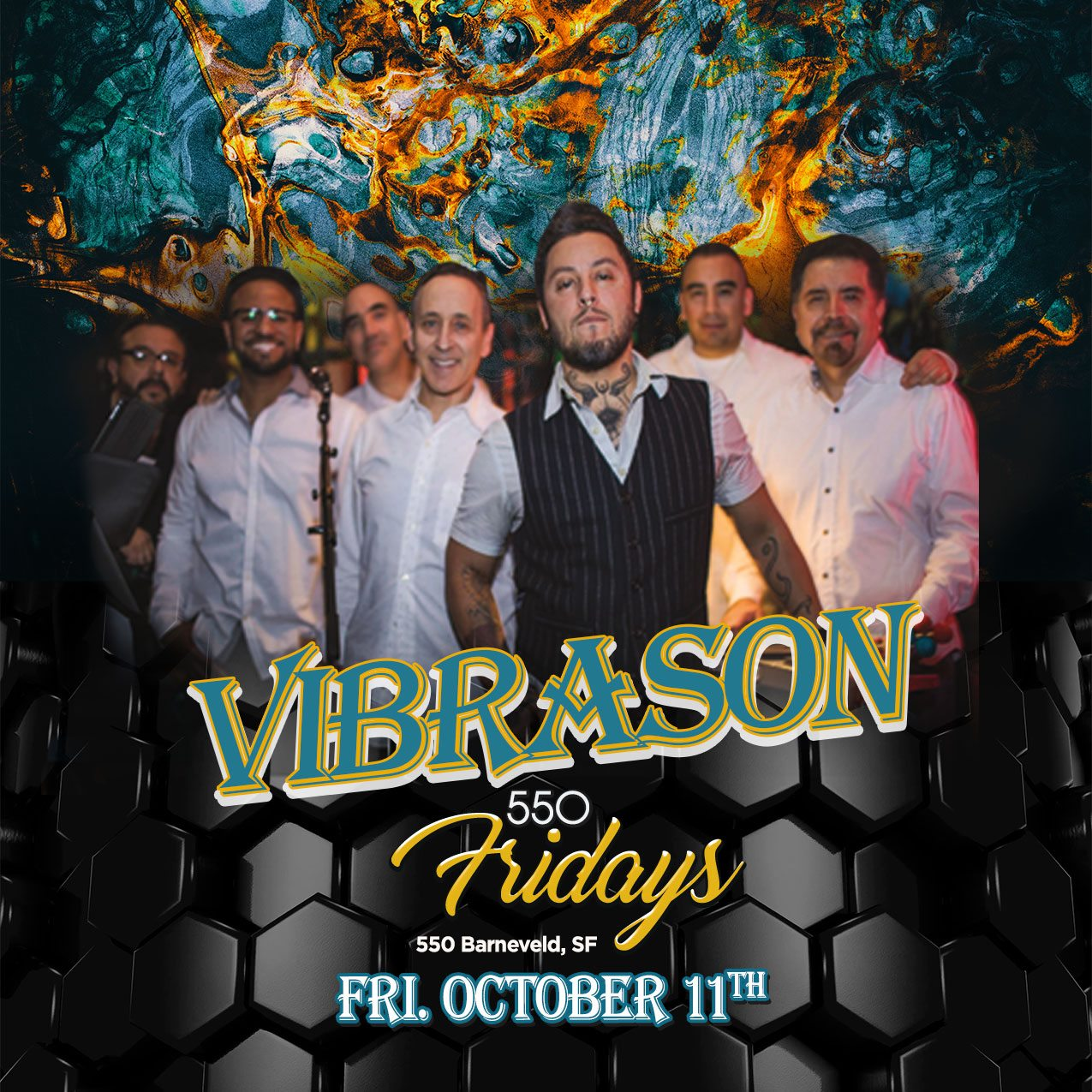 VibraSON returns to Dance Fridays - biggest dance party in the Bay Area - Oct 11, 2019