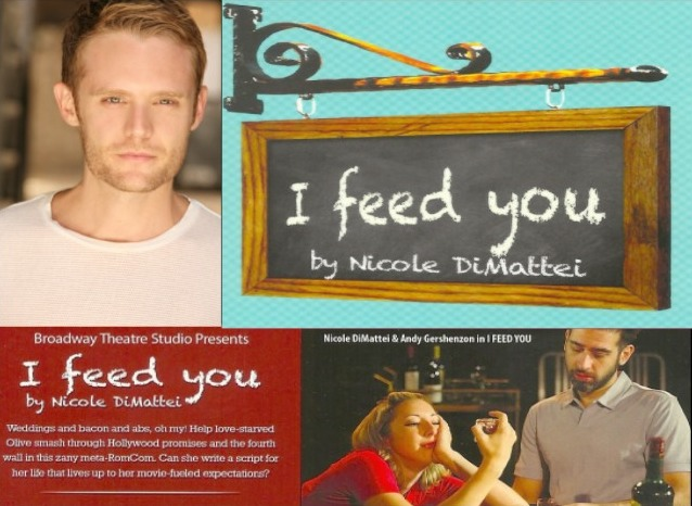 I  Feed  You  ( http://ifeedyou.org ) for this year's New York International Fringe Festival ( http://fringenyc.org ).    Performance Schedule  (all are at The Celebration of Whimsy Theater, 21 Clinton Street)   -Friday 8/8from 5:00P-6:30P  -Thursday 8/14from 9:15P-10:45P  -Sunday 8/17 from Noon-1:30P  -Thursday 8/21from 2:00P-3:30P  -Saturday 8/23from 7:00P-8:30P