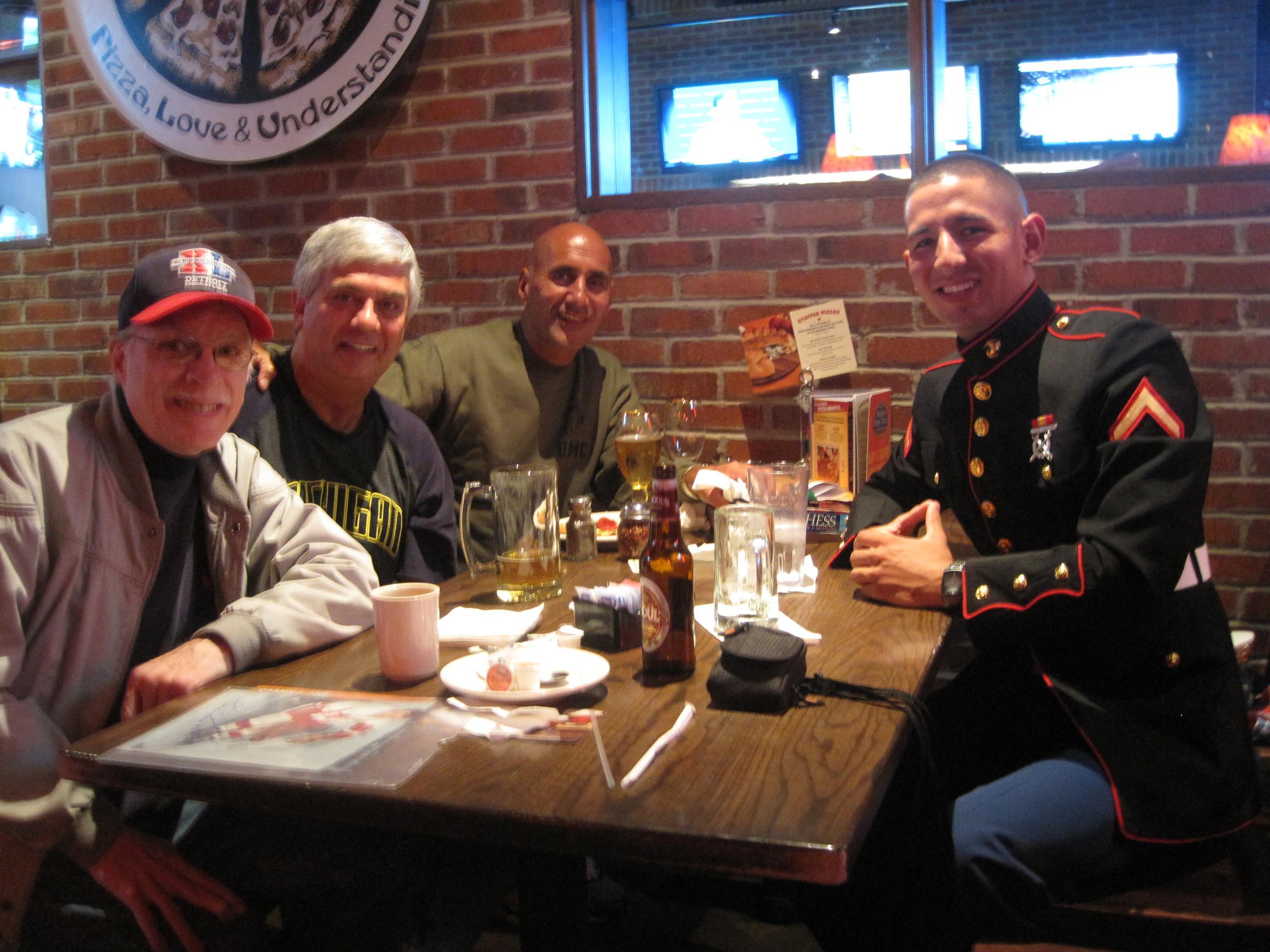 Mike Kozel,  Tom Howard , me, and my son, Michael Ankony