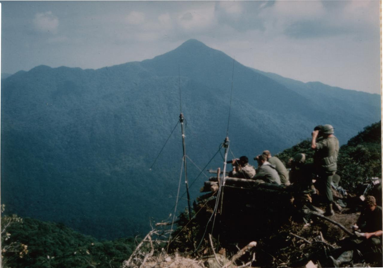 Signal Hill, A Shau Valley. Cpl. Ankony at left