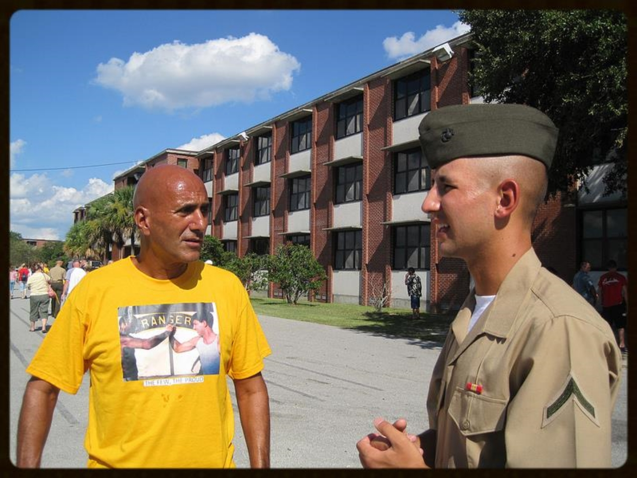 Thursday, September 16, 2010. With my son, Lance Corporal Mike Ankony, US Marine Corps Recruit Depot, Parris Island, South Carolina.