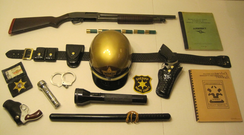My riot shotgun and police gear
