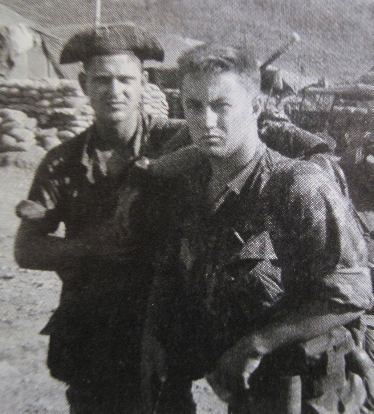 Larry Curtis and Bill Hand, both became casualties on Signal Hill