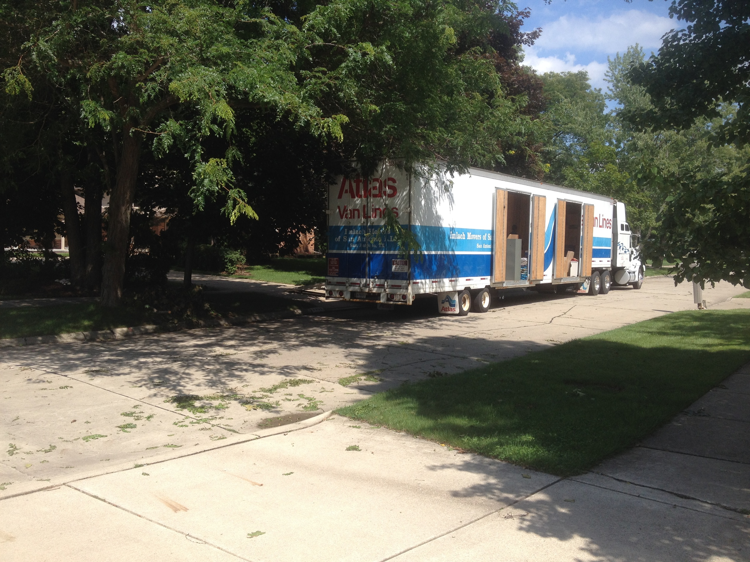 Moving day, Wednesday, August 20, 2014