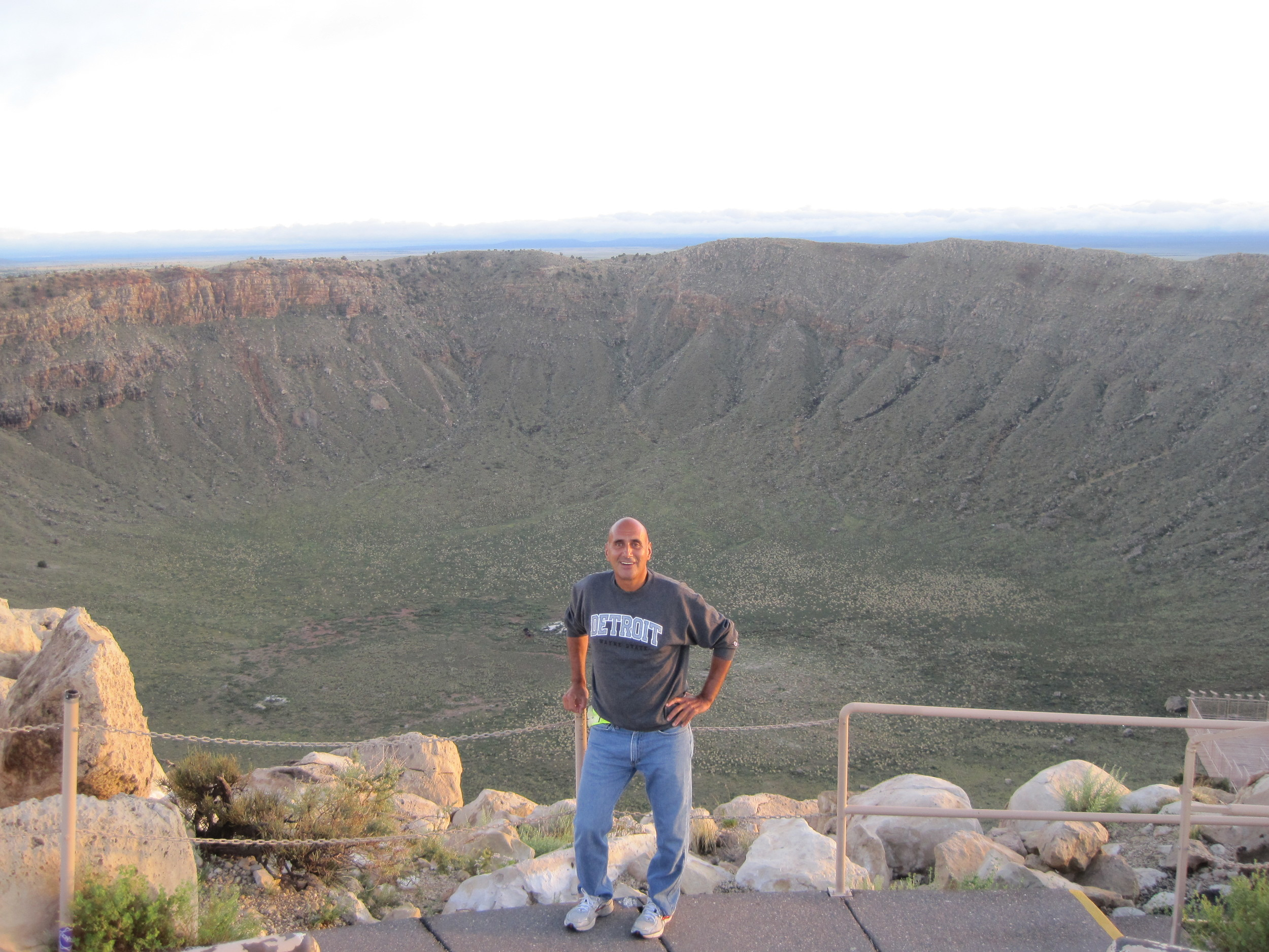 Meteor Crater and me. This is what a twenty megaton bomb could do