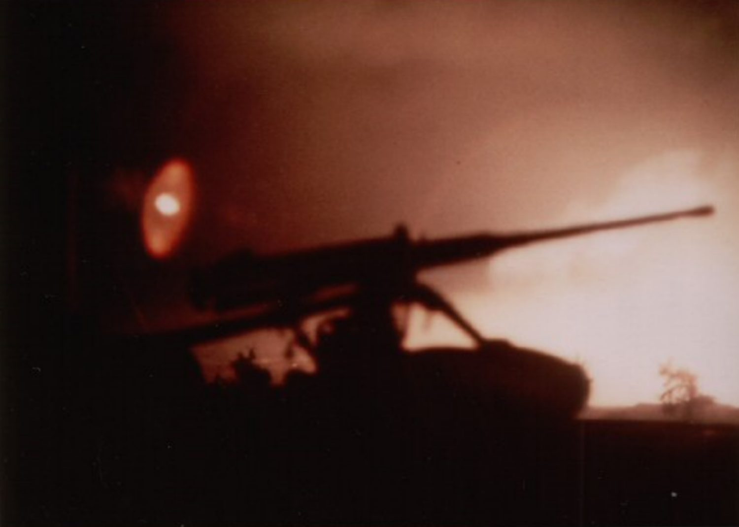 Early morning hours, Wednesday, January 31, 1968. The Tet Offensive has just been launched by 84,000 enemy soldiers. My first shots fired in combat were from this M2 .50